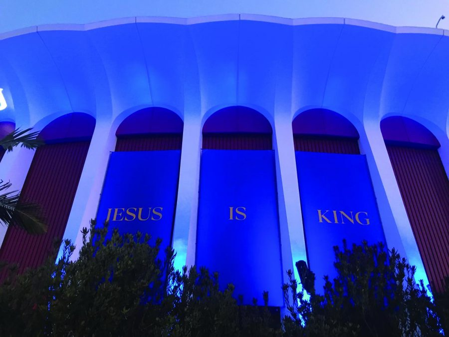 "Kanye West has held his ""Sunday Service"" at the Forum in Los Angeles four times so far."