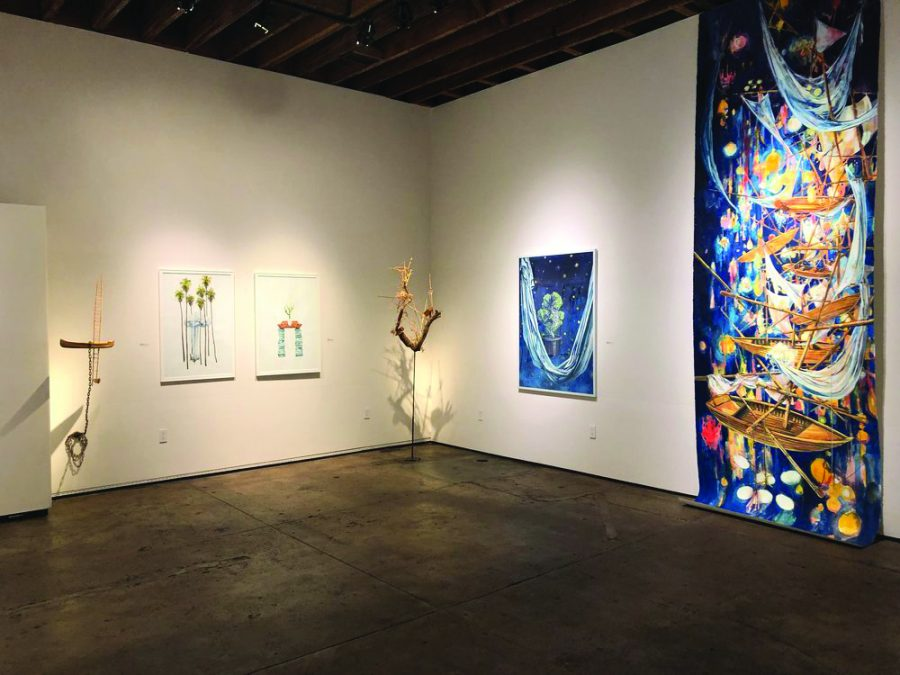 "Professor Nathan Huff's exhibition ""The Stories We Tell Ourselves"" is on display at the Sullivan Goss gallery in downtown Santa Barbara until September 23."