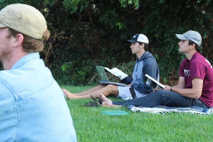 With Westmont preparing to transition from remote learning to outdoor classes, many students will switch out traditional desks for blankets and lawn chairs.