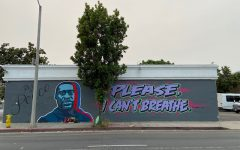 A mural dedicated to George Floyd, pictured in Santa Barbara last summer. Derek Chauvin, the officer who killed Floyd, was found guilty today.