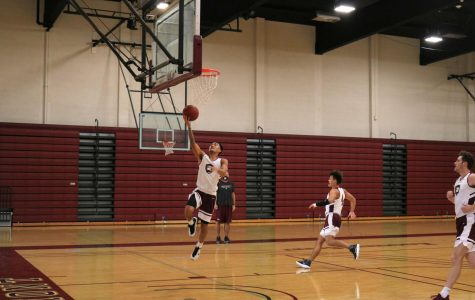 Jared Brown goes up for a layup.