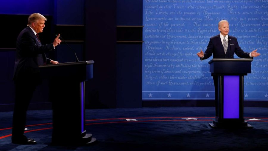 The two presidential candidates traded jabs during the first debate on September 29th.
