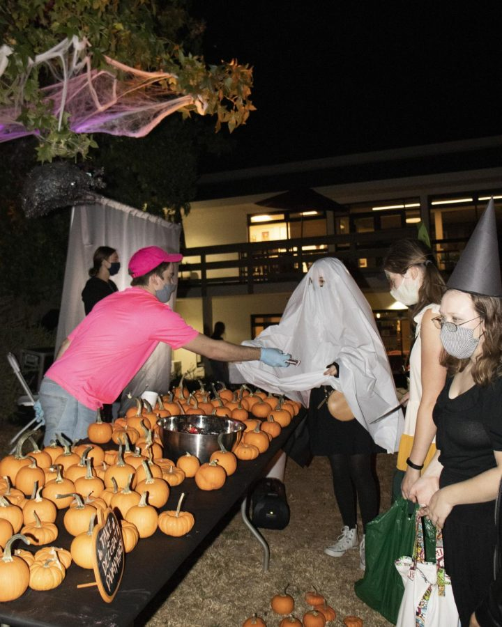 Students participate in WAC's Halloween event on campus.