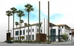 Exterior view of the proposed building from Santa Barbara street.