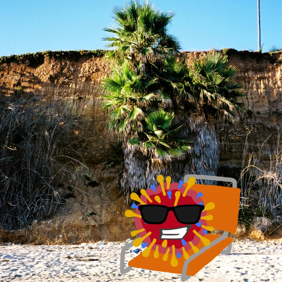 Despite+fewer+restrictions%2C+COVID-19+is+sticking+around+in+Santa+Barbara%2C+enjoying+the+winter+sunshine.