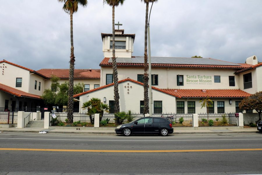 The Santa Barbara Rescue Mission's main location, located on East Yanonali.