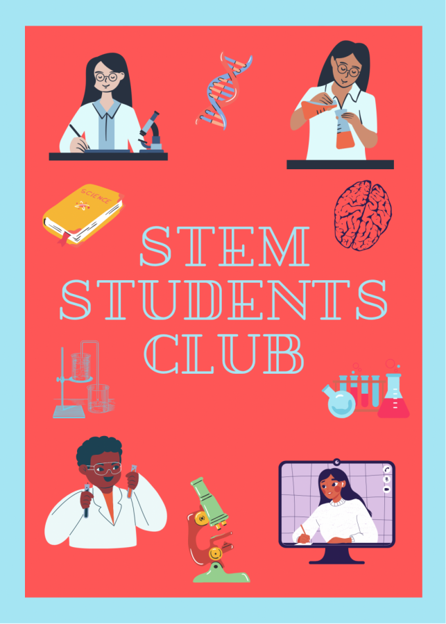 A recent promotional flyer from the STEM Students of Color club