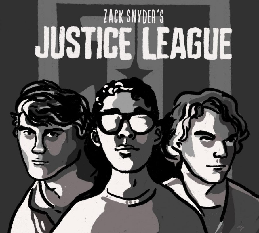 The Horizon's Justice League (Alum. and former A&E Editor Wesley Stenzel, Staff Writer Craig Odenwald, and current A&E Editor Luke Spicer)