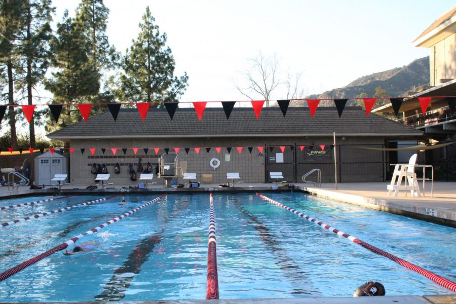 The Westmont pool awaits competition.