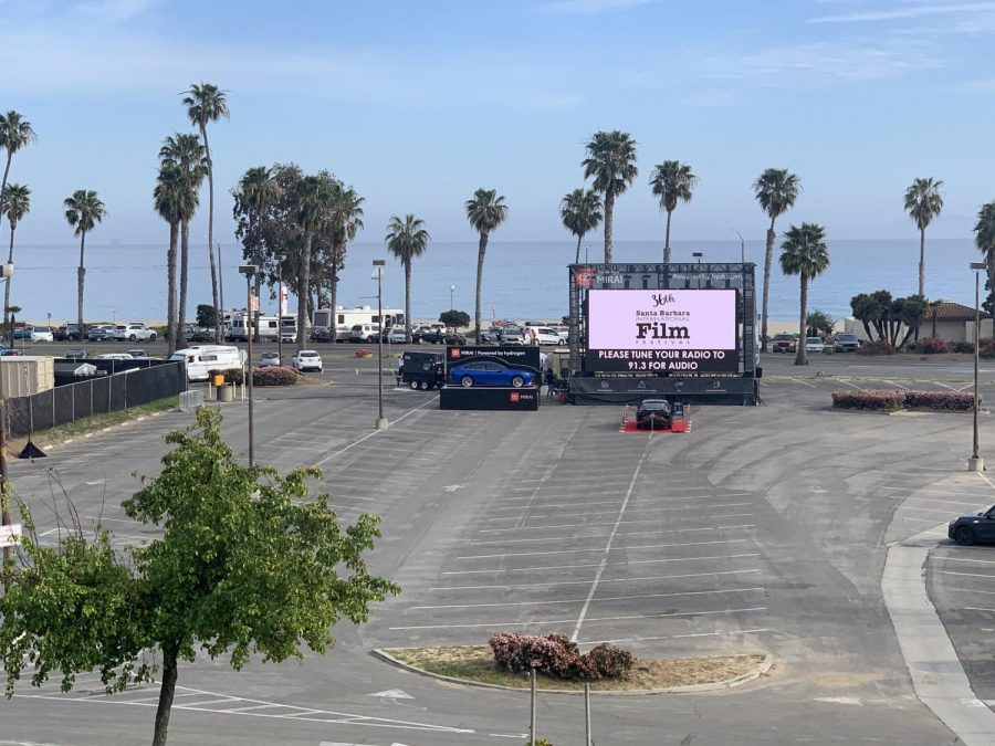 One of two drive-in theaters located in the parking lots of City College