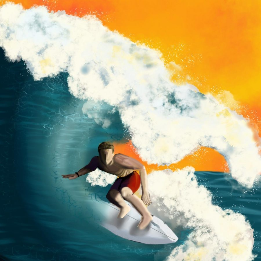Surfing+is+a+popular+way+to+enjoy+the+water+here+in+Santa+Barbara%21