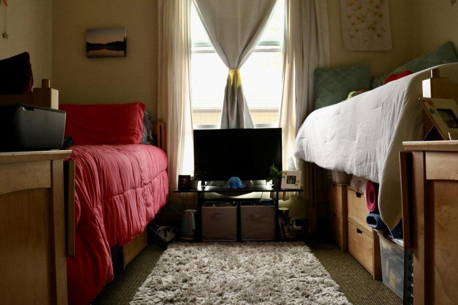 Alvarado and Huffs dorm room in Clark