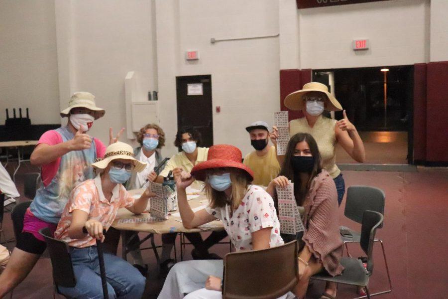 Students enjoy bingo night while masked up