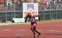 Zola Sohkela on the track