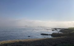 The view of Pebble Beach from where the Westmont orchestra performed
